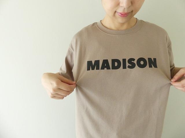ハイゲージ天竺ロゴTシャツ MADISONの商品画像3