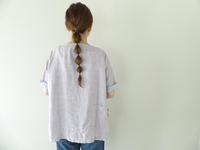 サマーリネンシャンブレーBigポケットTシャツの商品画像2