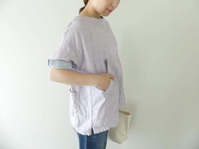 サマーリネンシャンブレーBigポケットTシャツの商品画像7