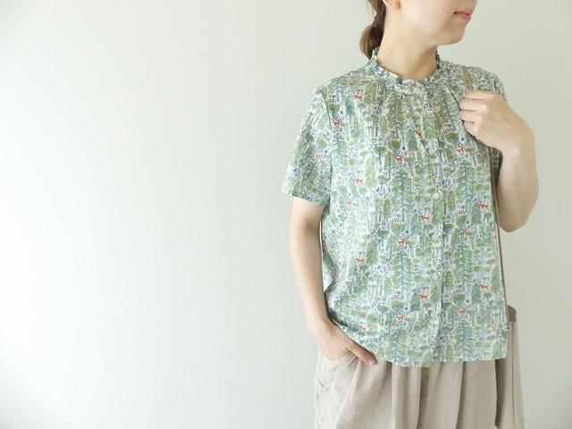 森のスタンドフリルシャツの商品画像1