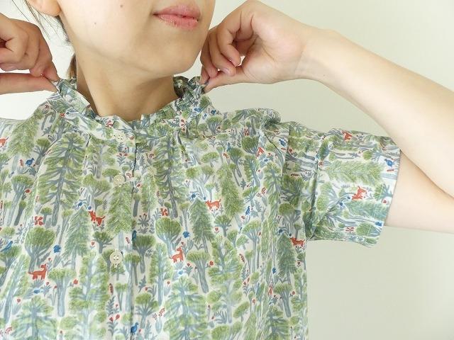 森のスタンドフリルシャツの商品画像3