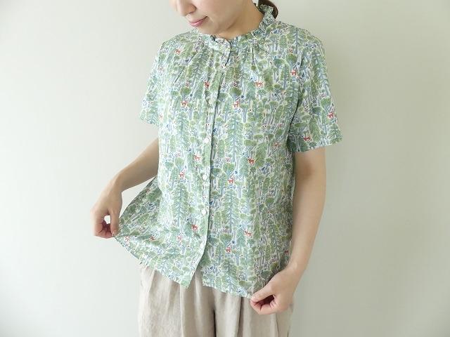 森のスタンドフリルシャツの商品画像4