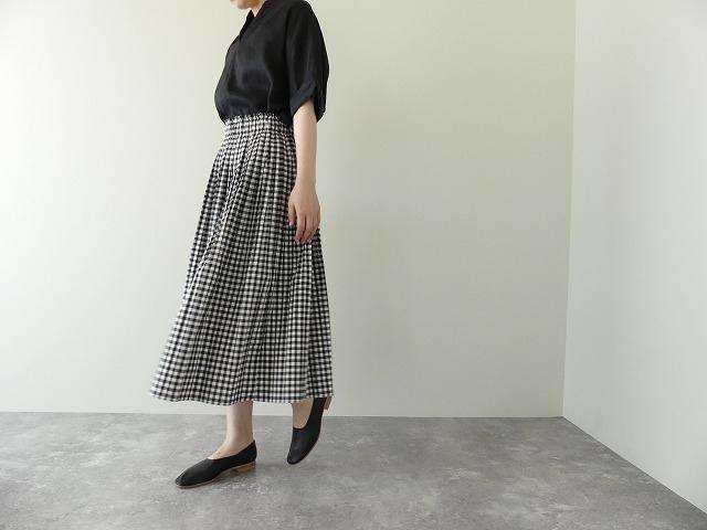 オーガニックエコギンガムプリーツスカートの商品画像1