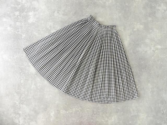 オーガニックエコギンガムプリーツスカートの商品画像10