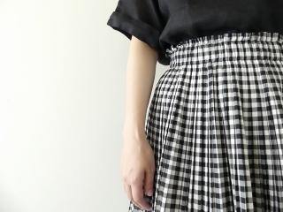 オーガニックエコギンガムプリーツスカートの商品画像14