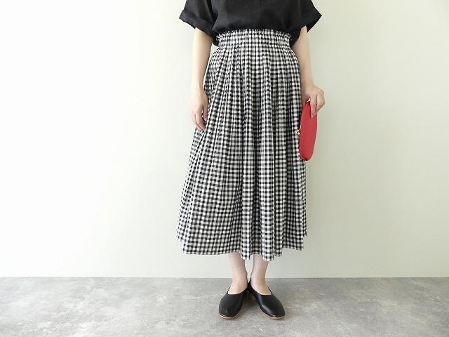 オーガニックエコギンガムプリーツスカートの商品画像2