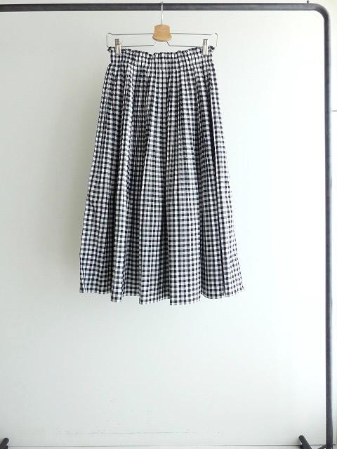 オーガニックエコギンガムプリーツスカートの商品画像3