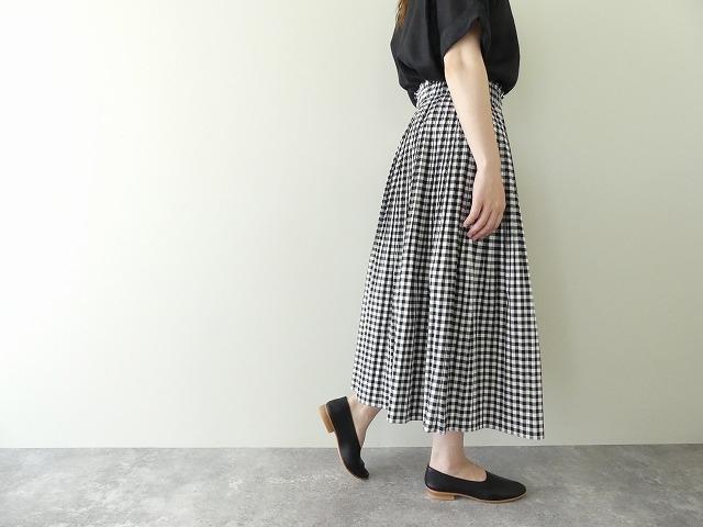 オーガニックエコギンガムプリーツスカートの商品画像4