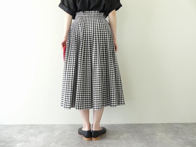 オーガニックエコギンガムプリーツスカートの商品画像5