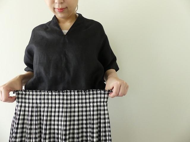 オーガニックエコギンガムプリーツスカートの商品画像6