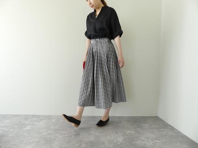 オーガニックエコギンガムプリーツスカートの商品画像7