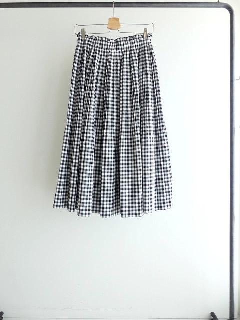 オーガニックエコギンガムプリーツスカートの商品画像8