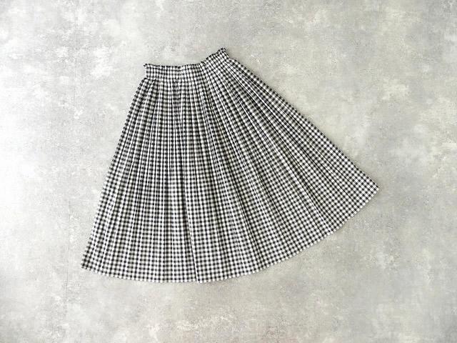 オーガニックエコギンガムプリーツスカートの商品画像9