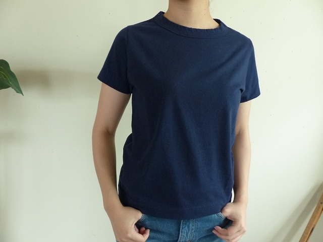 商品「homspun(ホームスパン) 天竺半袖Tシャツ ネィビー」の商品画像