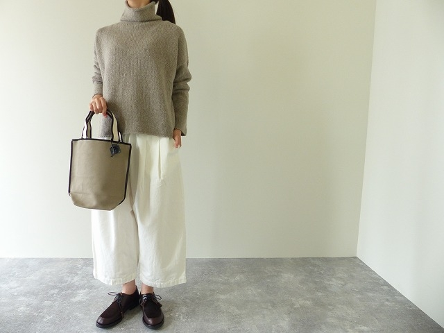 evam eva(エヴァムエヴァ) cashmere sable tweed turtle neck(E193K070)