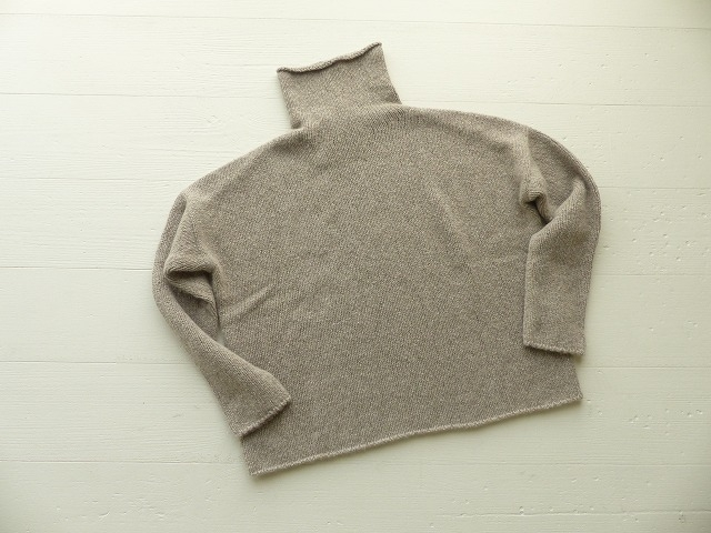 evam eva(エヴァムエヴァ) cashmere sable tweed turtle neck(E193K070)(3)