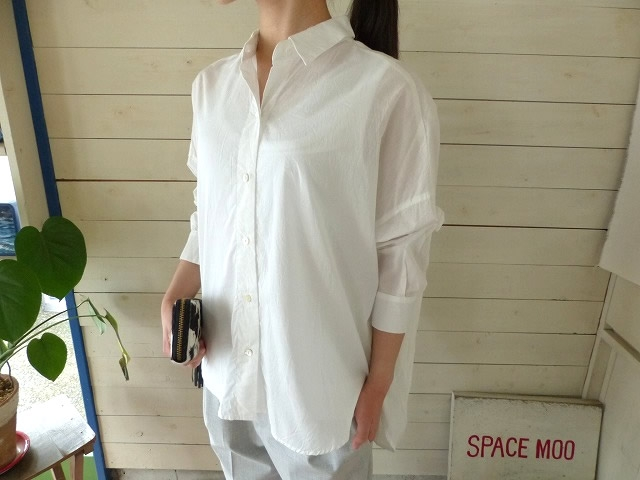 mizuiro-ind(ミズイロインド) side tucked cocoon shirt(1-237388)