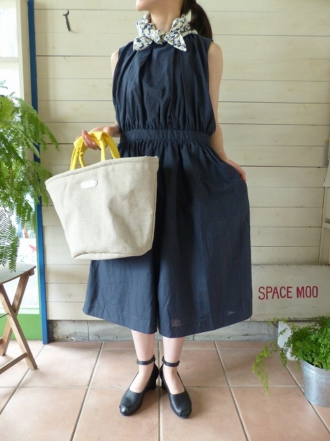 R&D.M(オールドマンズテーラー) SILK COTTON NO SLEEVE DRESS(OLD2601)
