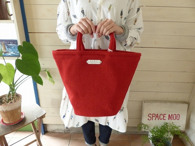 R&D.M(オールドマンズテーラー) RED TWEED MARCHE BAG Tall(OLD2797)(2)