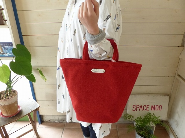 R&D.M(オールドマンズテーラー) RED TWEED MARCHE BAG Tall(OLD2797)(3)