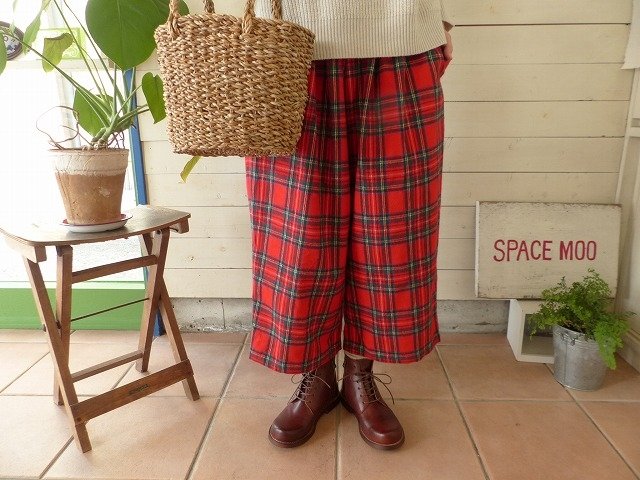 R&D.M(オールドマンズテーラー) SCOTCH TARTAN FLANNEL GOM PANTS(OLD3268)