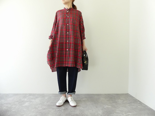 R&D.M(オールドマンズテーラー) COTTON SILK TARTAN CHECK DORMAN SLEEVE SHIRT(OLD4128)