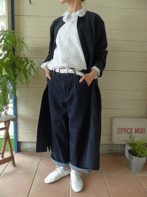 TOUJOURS(トゥジュー) MIDDLE WEIGHT COTTON SILK KHADI CLOTH Random Panel Collar Shirt(KM26NS02)