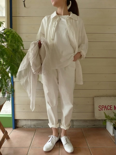 TOUJOURS(トゥジュー) COTTON LINEN GABERDINE CLOTH Coverall Jacket(TM26UJ05)